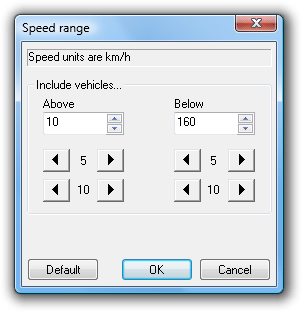 Speed filter range