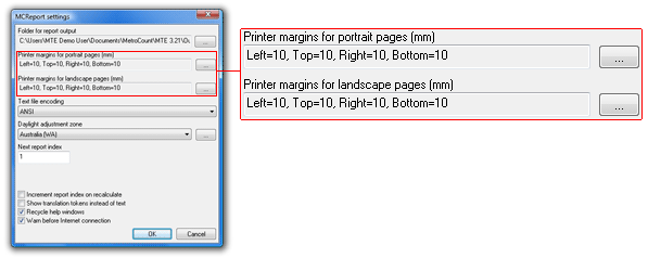 Setting default page margins